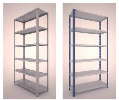 Estanterias de angulo ranurado for Perfiles de estanterias metalicas